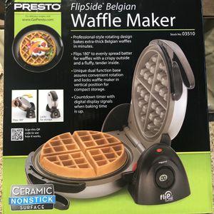 Presto 03510 Ceramic FlipSide Belgian Waffle Maker,Black for Sale in Cerritos, CA