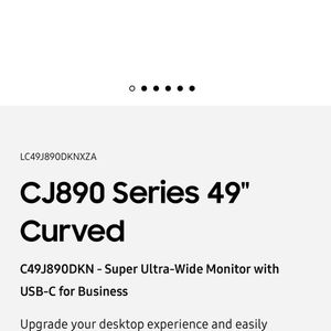 """CJ890 Series 49"""" Curved Super Ultra Wide Monitor for Sale in Jersey City, NJ"""