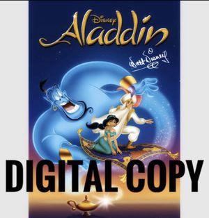 Disney Aladdin Digital Code for Sale in Los Angeles, CA