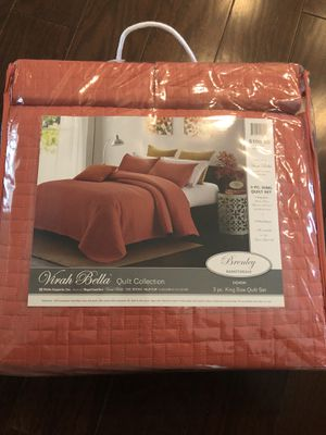 3 piece king quilt set for Sale in Atlanta, GA