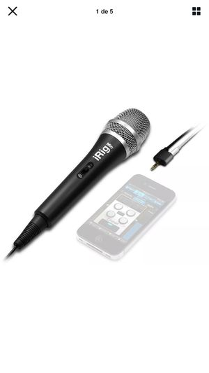 IK Multimedia ~ iRig Voice (black) Karaoke Microphone For smartphone and tablets for Sale in Miami, FL