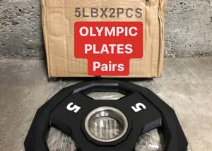 NEW IN BOX Olympic Rubber Plates | 5s | PAIRS for Sale in Fremont, CA