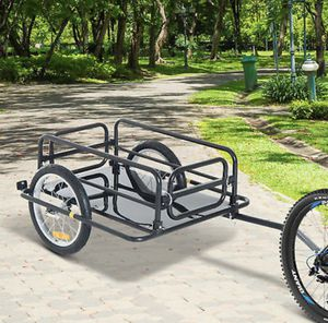 Steel Frame Bicycle Bike Cargo Trailer Luggage Cart Carrier 110lb Hauler for Sale in Plymouth, MA