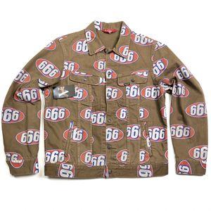 SS17 Supreme New York 666 Denim Trucker Jacket Brown Size M Medium for Sale in Tracy, CA