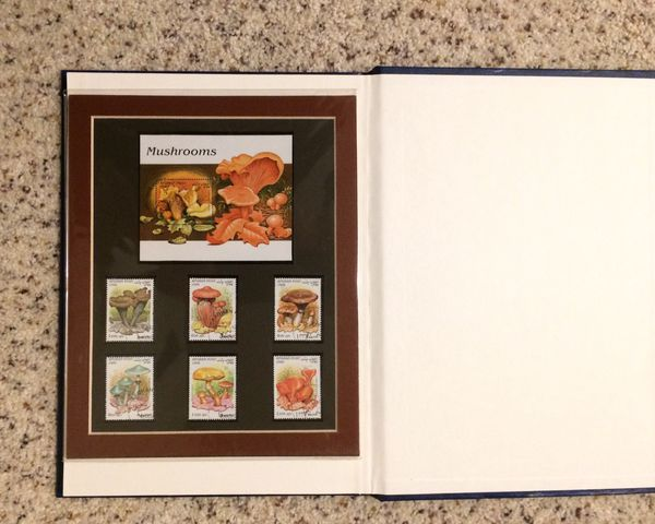 Mushrooms stamps collection
