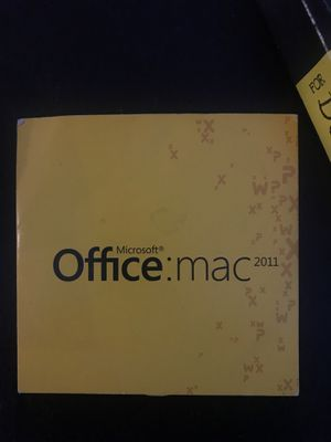 Microsoft Office for MAC 2011 for Sale in San Diego, CA