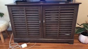 Grey wood TV stand for Sale in Portland, OR