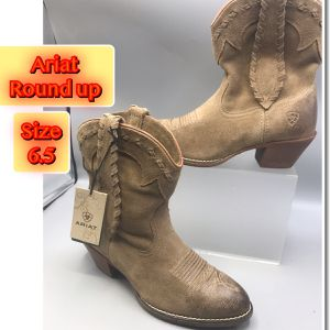 Ariat Women's Round Up Rianda Relaxed Bark Shortie Boots New for Sale in Tinton Falls, NJ