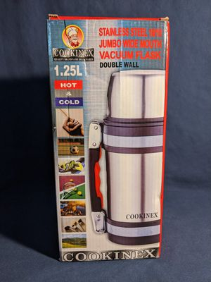 Stainless Steel Jumbo Wide Mouth Vacuum Flask for Sale in Fresno, CA