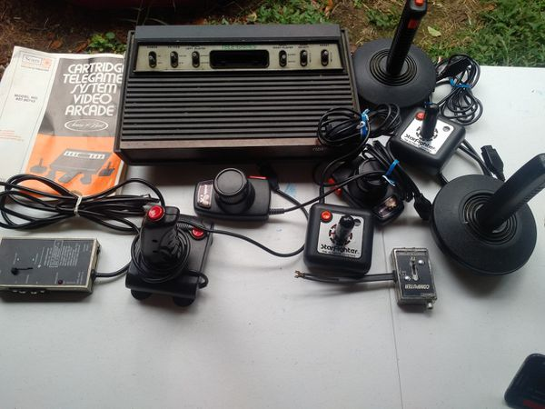 Atari old school video game system