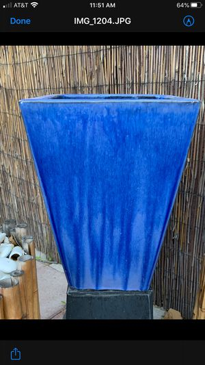 Larger outdoor plant pot $35 or best offer 17 high x 12 wide for Sale in Las Vegas, NV