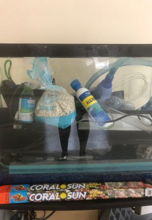 Fish tank and it's necessities for Sale in West Haven, CT