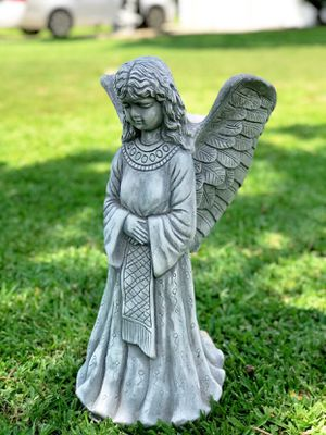 . Angel Bird Feeder or Plant Holder ( Pottery Statue ) 1ft 10 inchlong for Sale in San Antonio, TX