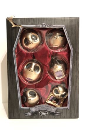 The Nightmare Before Christmas Faces of Jack Skellington Glass Christmas Disney ornaments for Sale in Miami, FL