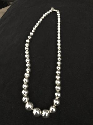 Authentic Sterling Tiffany CO Graduated Bead Necklace for Sale in San Jose, CA