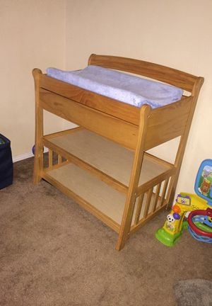 Very nice wooden oak changing table for Sale in Aberdeen, WA