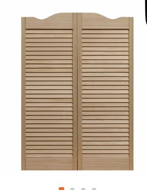 "Pinecroft 36""x 42"" Louvered Unfinished Pine Wood Cafe Door for Sale in Katy, TX"