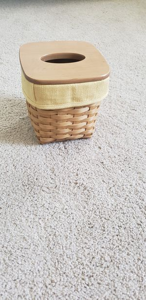 Longaberger 2003 Tall Tissue Basket for Sale in Shingle Springs, CA