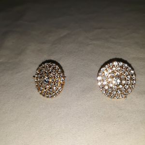 Sparkling Circle Stud Earrings. for Sale in Dallas, TX