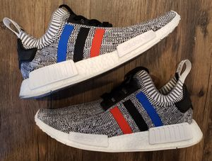 Adidas NMD R1 primeknit shoes Size 10 tricolor white for Sale in San Diego, CA