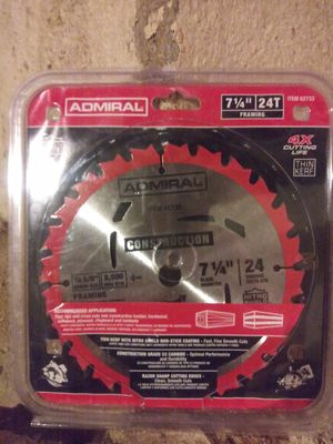 Admiral circular saw blade for Sale in Philadelphia, PA