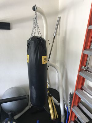 100lb Everlast bag with stand and speed bag attachment. Barely used....$135 for Sale in Zephyrhills, FL