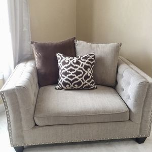 Tufted Sofa Loveseat And Single Chair for Sale in Aurora, CO