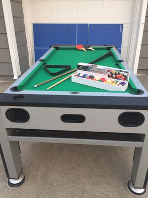 Eastpoint Sports multi-game (3-in-1) game table. Pool / Air Hockey / Ping Pong for Sale in Sacramento, CA