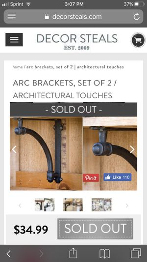 Vintage shelf brackets for Sale in Lincolnwood, IL
