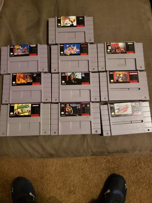 Various SNES Games Super Nintendo Carts $110 OBO for Sale in Commerce City, CO