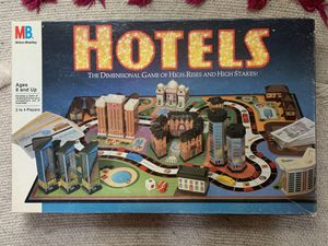 Hotels Board Game Milton Bradley for Sale in Beaverton, OR