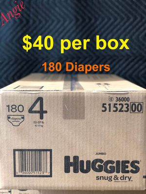 Huggies snug and dry size 4 for Sale in Downey, CA