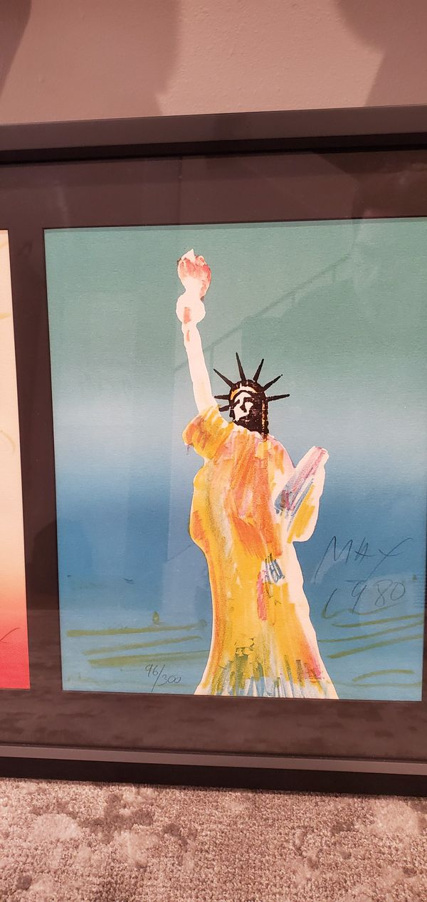 Peter Max Liberty Suite Lithograph framed and pencil signed