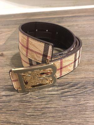 "Men's Gold ""B"" Burberry Belt sz 28-34 for Sale in Lilburn, GA"
