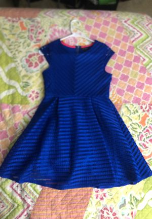 Sequin heartsGirls Royal blue dress. Size 14 for Sale in Falls Church, VA
