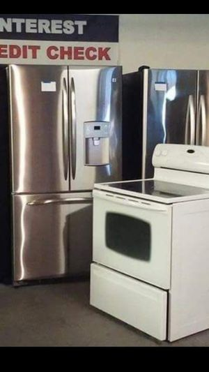 Huge Sale store full of nice reconditioned refrigerator washer dryer stove stackable+financing available a free warranty for Sale in Seattle, WA