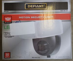 Defiant 180 Degree MotionActivated Outdoor LED Battery Powered Flood Light Black for Sale in North Las Vegas, NV