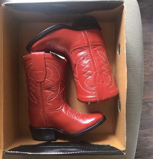 Toddler brand new red boots cowgirl cowboy size 4 for Sale in San Antonio, TX