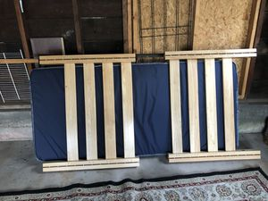 Twin bed with frame, mattress and box springs for Sale in Negaunee, MI