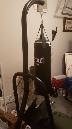 Punching bag with stand for Sale in Savannah, GA