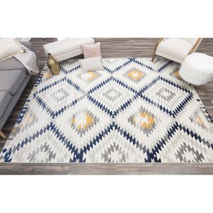 Southwestern Ivory/Blue/Yellow Area Rug for Sale in Denver, CO