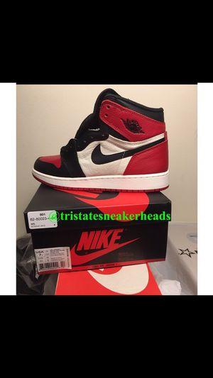 """Jordan Retro 1 """"Bred Toe 1's Grade School Size 7y for Sale in New York, NY"""