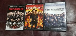 DVD Expendables 1-2-3 for Sale in Grand Prairie, TX