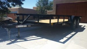 2019 flat bed utility trailer for Sale in Santa Fe, NM