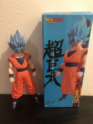 "Dragonball z super saiyan son goku blue sssg 15"" tall for Sale in Zephyrhills, FL"