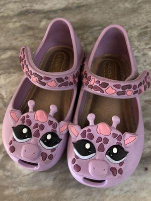 Mini Melissa purple giraffe size 5 shoes for Sale in Glendale, AZ