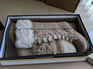 Beige Fashion Boots with Faux Fur Trim-Size 10 for Sale in Miami, FL