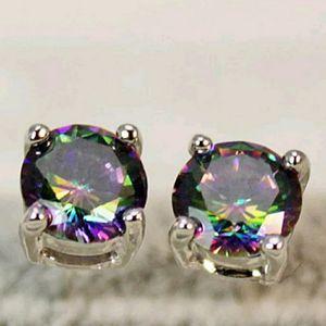 Rainbow Topaz Stud Earrings for Sale in Fort Lauderdale, FL
