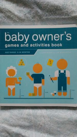 The Baby Owner's Games and Activities Book for Sale in Tacoma, WA