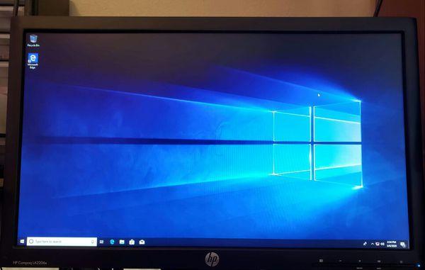 "Desktop PC i3 CPU + SSD + 22"" Display"
